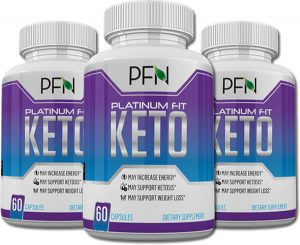 bottles of Platinum Fit Keto